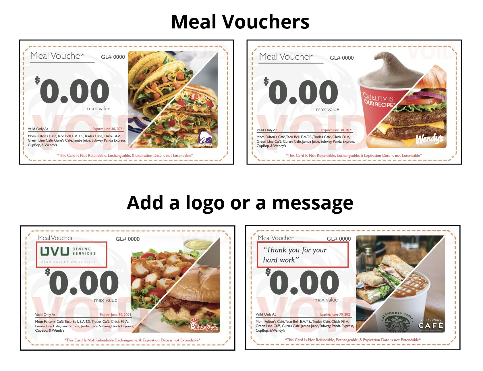 meal voucher example