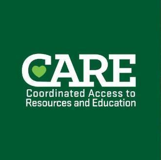 cares logo with green in the background